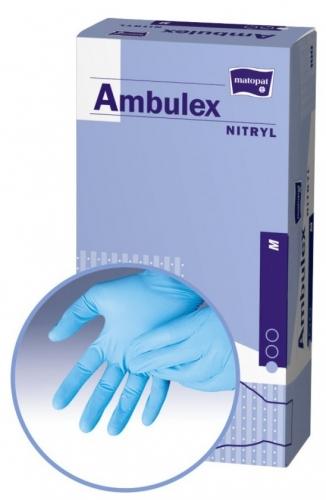 Перчатки смотровые из нитрила L